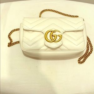 Gucci supermini matelasse leather shoulder bag